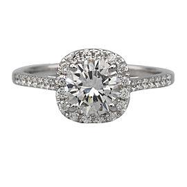 1.16 ct GIA Round Diamond Engagement Ring in 18k White Gold
