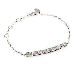 Meira T Pave Diamond Bars ID Bracelet in 14k White Gold ( 0.60 ct tw )