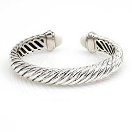 David Yurman Agate Waverly Bangle Bracelet in Sterling Silver