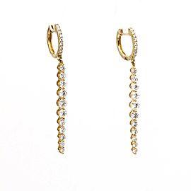 Odelia Minimalist Diamond Dangle Earrings in 18k Yellow Gold (2.00 ct tw )