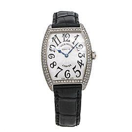 Franck Muller Curvex Women Diamond Watch in 18k White Gold 7502 QZD