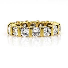 3.50 ct Women's Diamond Eternity Band Ring in 18k Yellow Gold