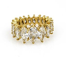 4.50 ct Marquise Diamond Graduated Eternity Band Ring in 18k Yellow Gold
