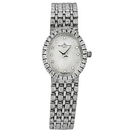 Baume & Mercier Ladies Diamond 18k White Gold Vintage Watch