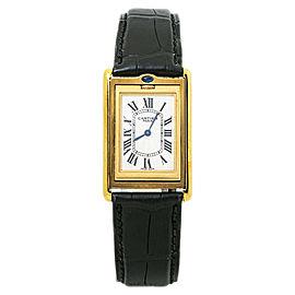 Cartier Basculante 2499D NEW RARE 18k Yellow Gold Mens Watch 25mm