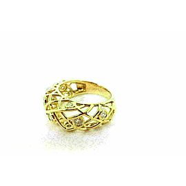 Heart on Fire Diamond Brocade 18k Yellow Gold Dome Band Ring