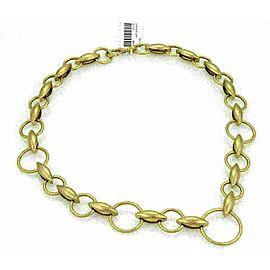 Gurhan WHEATLA 24k Gold Hammered Circles & Wheat Link Necklace