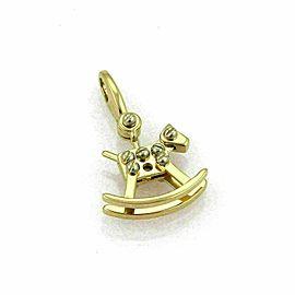 Cartier Rocking Horse 18k Two Tone Gold Charm Pendant w/Cert