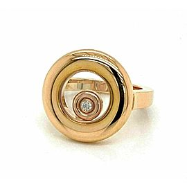 Chopard Happy Diamond 18k Rose Gold Round Floating Diamond Ring