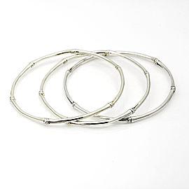 John Hardy Set of 3 Bamboo Bangle Bracelets in Sterling Silver