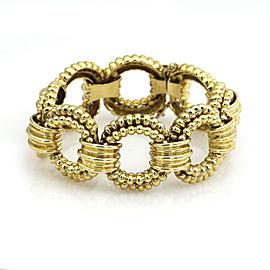 Tiffany & Co. Round Link Vintage Statement Bracelet in 18k Yellow Gold