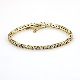 2.80 ct EGL Certified Colorless Diamond Tennis Bracelet in 14k Yellow Gold