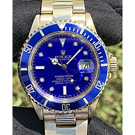 Rolex 16618 Submariner 18k Yellow Gold Automatic Watch