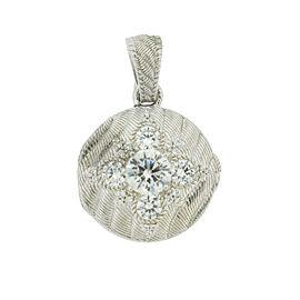 Judith Ripka Sterling Silver Round CZ Pendant