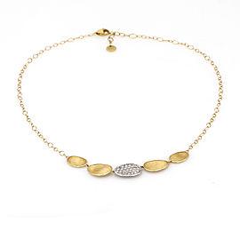 Marco Bicego Lunaria Diamond 18K Yellow Gold Chain Necklace