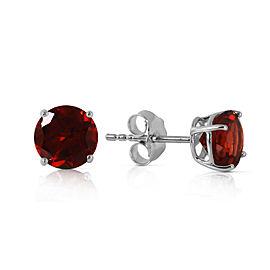 0.95 CTW 14K Solid White Gold Behold Glory Garnet Earrings