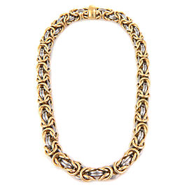 Rom Germany 18k Gold & Platinum 9mm Byzantine Link Necklace 127gr.