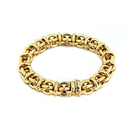 "Estate 14k Yellow Gold Open Style Round Link Bracelet 7.5"" Long"