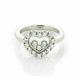 Chopped Happy Diamond 18k White Gold Heart Diamond Bezel Ring