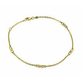 "Infinity Design 21k Gold Chain Anklet 10"" long"
