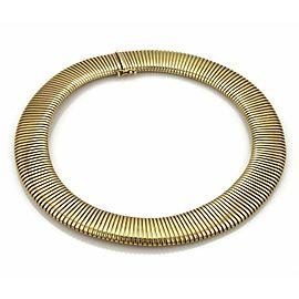 Wide Flex Collar 14k Yellow Gold Necklace
