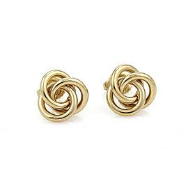 Tiffany & Co. 18k Yellow Gold Love Knot Stud Earrings