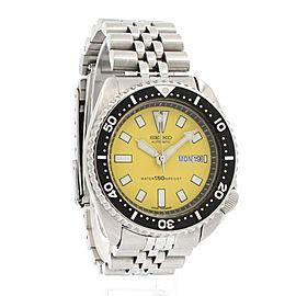 Seiko TURTLE Scuba Divers 150M 6309-729A Yellow Dial Men's Watch
