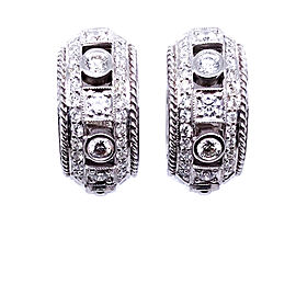 Penny preville E7200W 18k White Gold Diamond Earrings