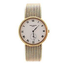 Patek Philippe Calatrava 3919 Manual Watch Yellow Gold 33