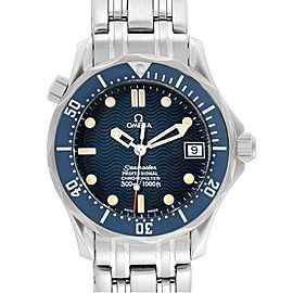 Omega Seamaster Midsize 36mm Blue Wave Dial Steel Watch 2551.80.00