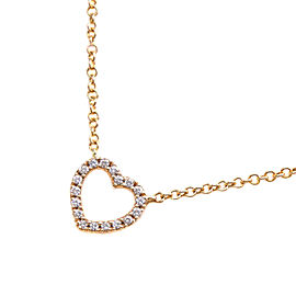 TIFFANY & Co K18 yellow gold Pave Diamond Necklace