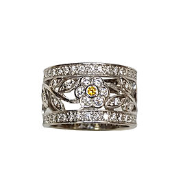 Simon G. 18K White Gold with 0.99ct. Diamond Band Ring Size 6.5