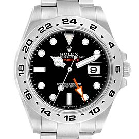 Rolex Explorer II 42mm Black Dial Orange Hand Mens Watch 216570