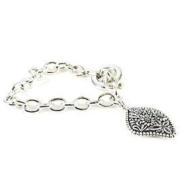 Lagos Sterling Silver Leaf Charm Bracelet Made for The Philadelphia Flower Show