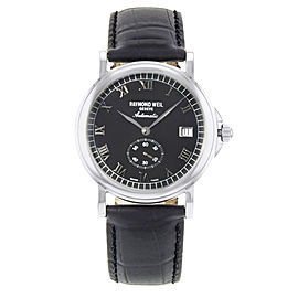 Raymond Weil Tradition Steel Black Dial Automatic Men's Watch 2835-ST-00208