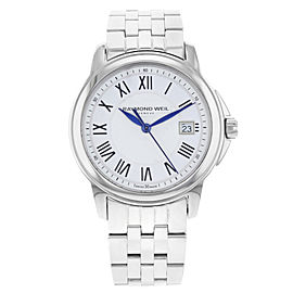 Raymond Weil Tradition Steel White Dial Quartz Mens Watch 5678-ST-00300