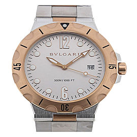 Bulgari Diagono Pro Automatic Date Silver Mens watch DP41WSPGSD