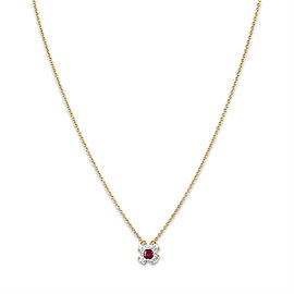 Tiffany & Co. 18K Yellow Gold Ruby Necklace