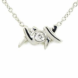 Tiffany & Co. 18KWG Diamond Kiss P. Picasso Necklace Pendant CHAT-191