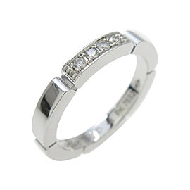 Cartier 18K White Gold And Myon Phantele Ring Size 4.5