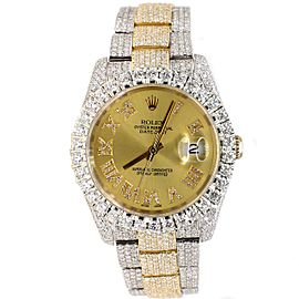 Rolex Datejust 36mm 2-Tone Oyster 17.7ct Diamond-Paved Watch