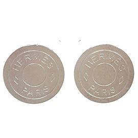 Hermes Silver Metal Earrings