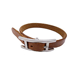 Hermes Metal Leather Bracelet