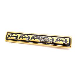 Hermes Gold Tone Metal Brooch