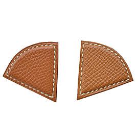 Hermes Metallic Leather Earrings