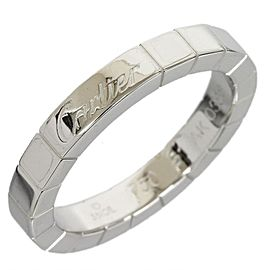 Cartier 18K White Gold Lanieres Wedding Band Ring Size: 6.0