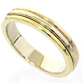 Cartier 18K Yellow White And Pink Gold Trinity Wedding Band Ring Size 5.0