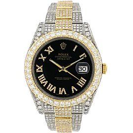 Rolex Datejust II 2-Tone Yellow gold/steel 41MM Oyster 15.2CT Diamond Watch 116333