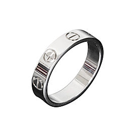 Cartier Mini Love Ring White Gold Size 4.25