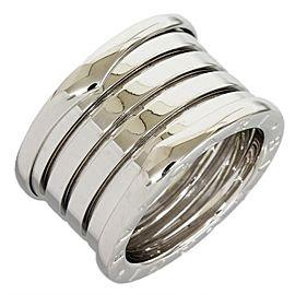 Bulgari 18K White Gold One Five Band Ring